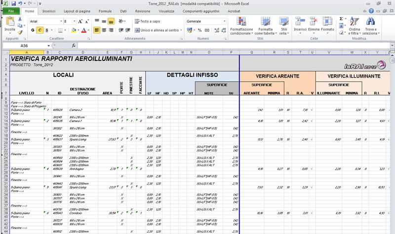 Israi per revit informatica system s r l - Verifica rapporto aeroilluminante ...
